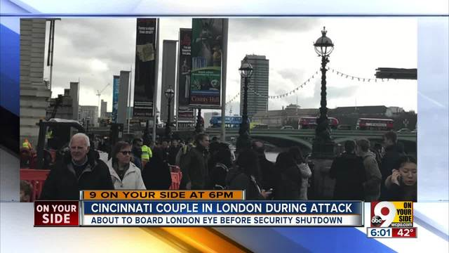 Cincinnati couple in London during attack