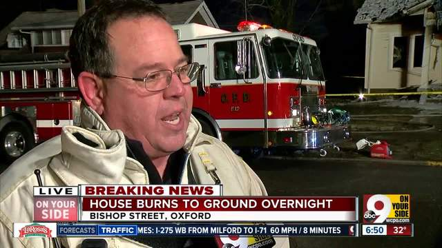 Oxford Fire Chief talks on Bishop St- house fire