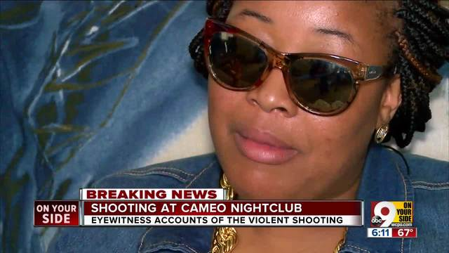 Woman says she was outside nightclub when gunfire started