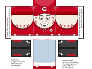Count down to Opening Day with this Mr. Red toy