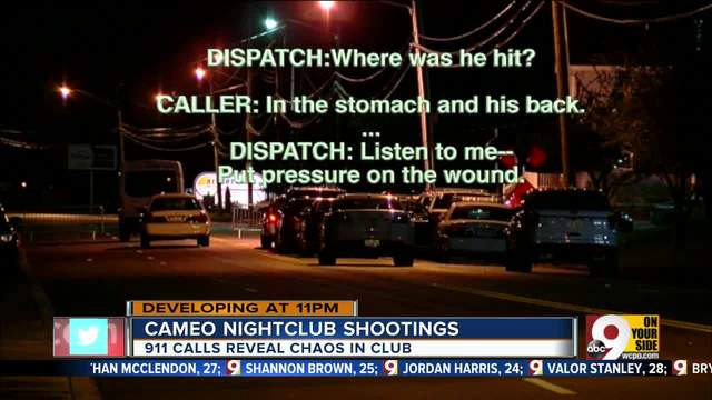 911 calls reveal chaos after mass shooting in Cameo Night Club in Cincinnati