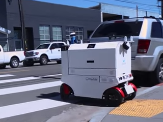 WATCH: New self-driving robots delivering meals