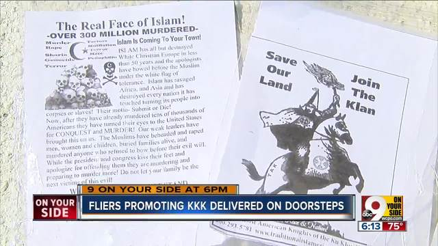 Racist fliers found on Covington doorsteps