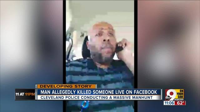 Manhunt underway for Cleveland man who shot and killed a man on Facebook Live