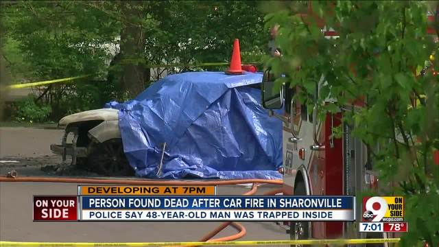 Man found dead after car fire in Sharinville