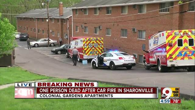 One person dead after Sharonville car fire
