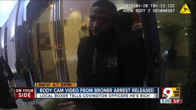 Adrien Broner to police during Thursday-s arrest- I-m rich- I don-t give a f---
