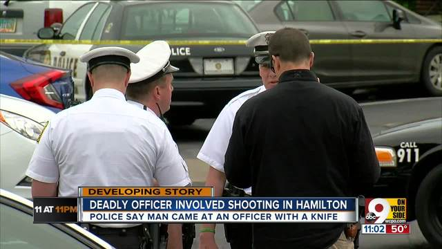 Chief- Man Hamilton officer shot- killed had -butcher knife-
