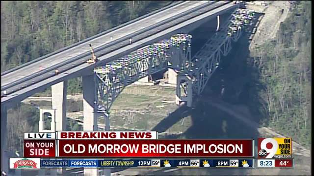 Sections of old Jeremiah Morrow Bridge don-t collapse as planned