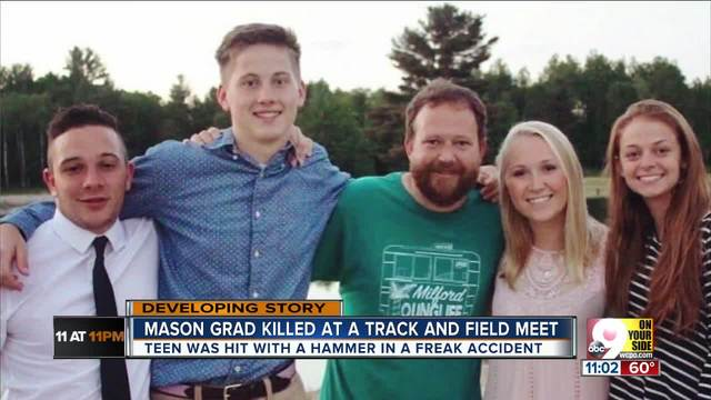 An emotional goodbye- Teen sobs over loss of friend- Mason graduate Ethan Roser