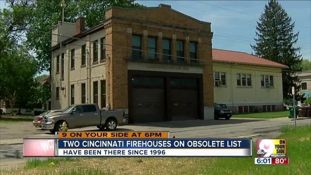Two Cincinnati firehouses on obsolete list