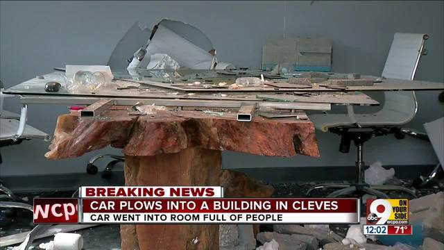 Truck plows into building in Cleves- Ohio during morning meeting