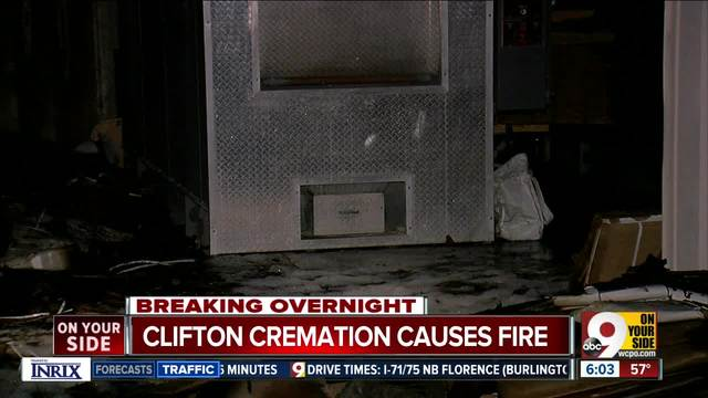 Cremation turns into uncontrolled fire at funeral home