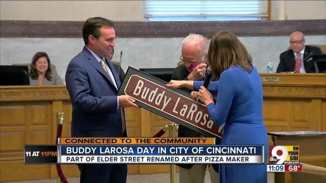 Buddy LaRosa couldn-t hold back his tears when he learned a street would…