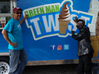 This is the Green Man behind ice cream business
