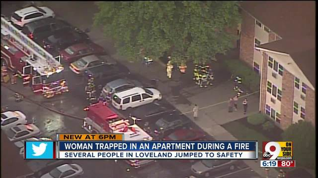 Loveland firefighters rescue woman from window of burning apartment