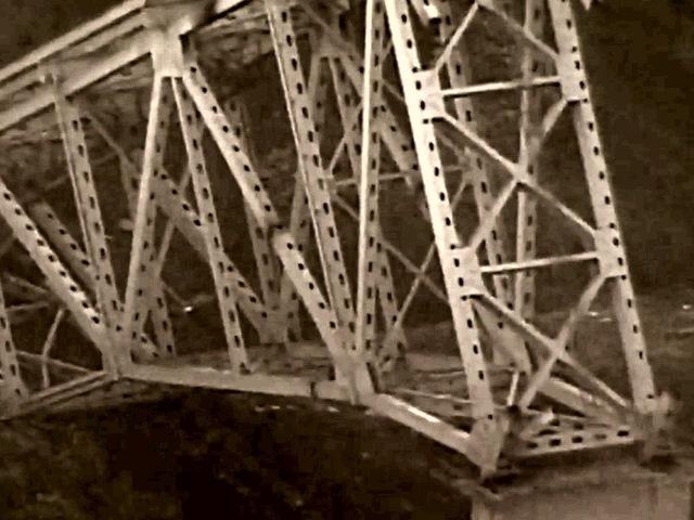 Part of old Morrow Bridge just won't budge