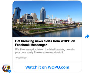 Get breaking news alerts from WCPO on Facebook