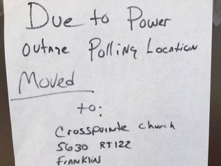 Power outage forces 3,700 voters to go elsewhere
