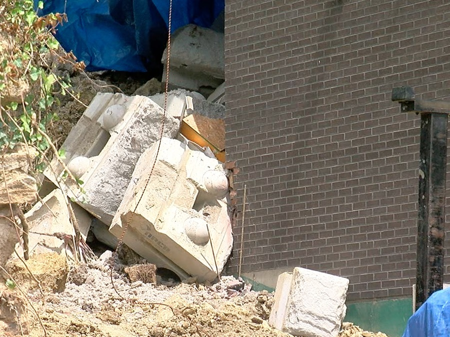 Retaining Wall Collapse Sends Hillside Into Two Mount
