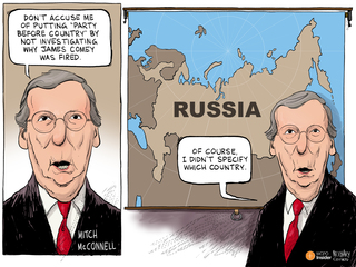 EDITORIAL CARTOON: Country before party