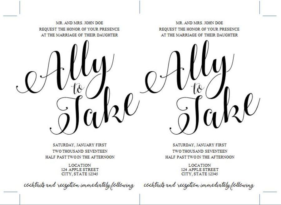 Reporter Ally Kraemer's DIY wedding invitations are a labor
