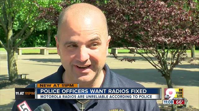 Police officers want radios fixed