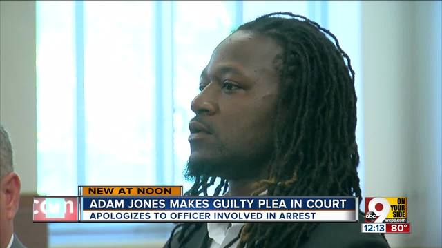 Bengals cornerback Adam Jones pleads guilty to misdemeanor count of…