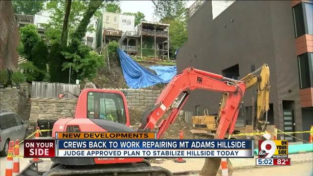 Judge approves plan to stabilize Mount Adams hillside