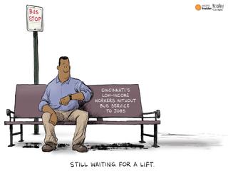EDITORIAL CARTOON: Waiting for a lift