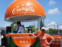 Keep your eyes peeled for giant orange on wheels