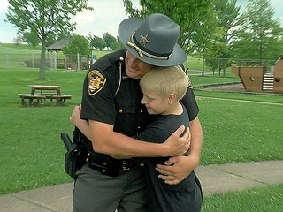 Deputies surprise autistic boy at birthday party