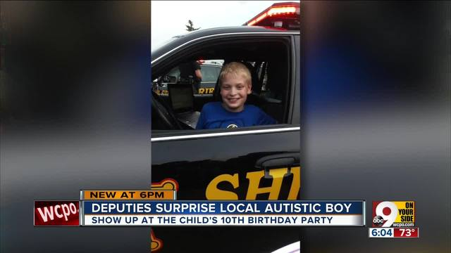 Butler County Sheriff-s deputies surprise autistic 10-year-old at his…