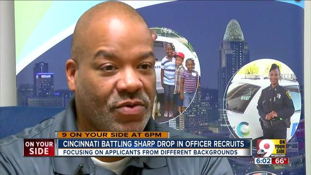 Cincinnati battling sharp drop in police recruits