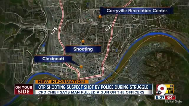 OTR shooting suspect shot by police during struggle