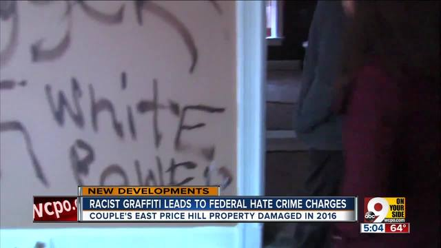 Racist graffiti leads to federal hate crime charges