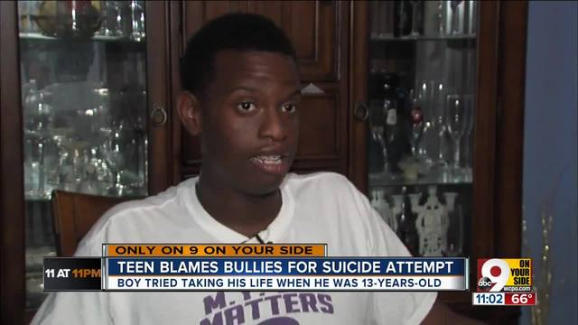 Teen blames bullies for suicide attempt