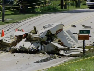 Vault: Planes collide, crash on street, lawn