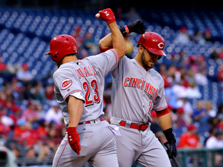 Adleman pitches 8 innings as Reds beat Phillies