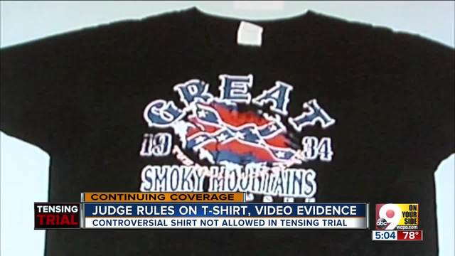 Judge- Confederate flag T-shirt will not be shown in Tensing retrial
