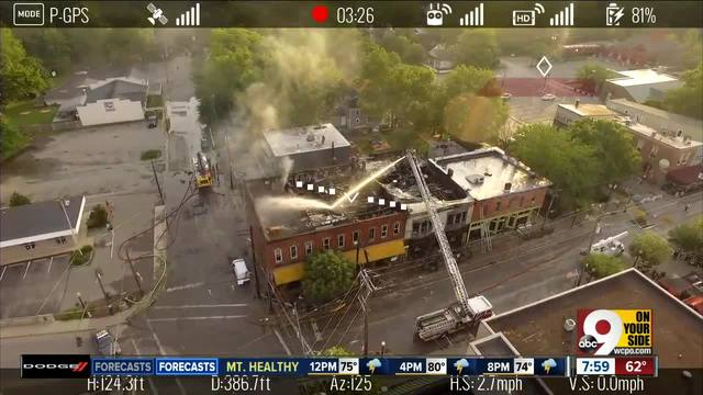Daylight reveals fire damage in historic downtown Loveland