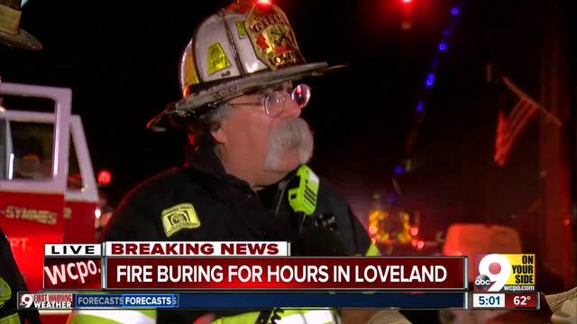 Historic downtown Loveland damaged in massive fire