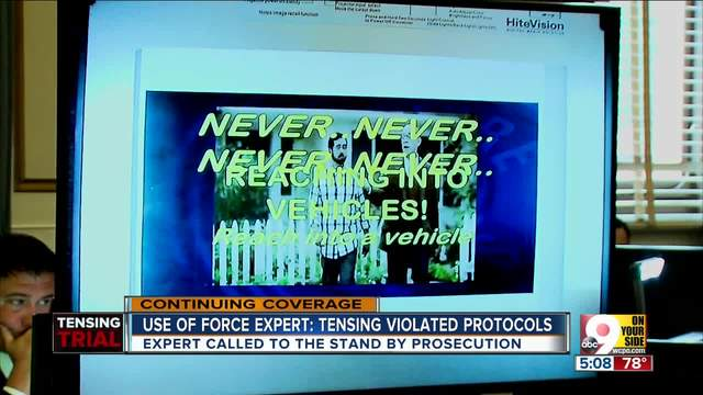 Use of force expert- Ray Tensing violated protocols