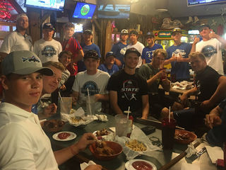 Simon Kenton baseball having fun on state run