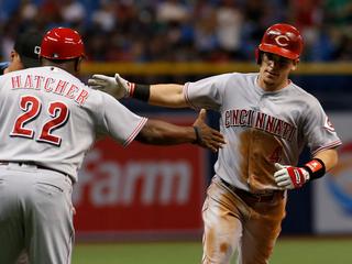 Schebler, Gennett help Reds top Rays 7-3