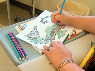 Coloring books are helping cancer patients