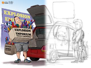 How WCPO cartoonist created a Caption This toon