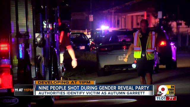 Three kids among nine people shot at baby 'gender reveal' party