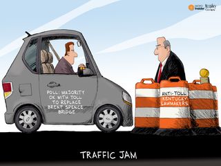 EDITORIAL CARTOON: Traffic jam