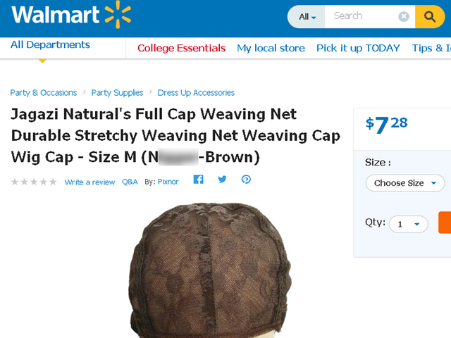N-word used on Walmart website to describe product color